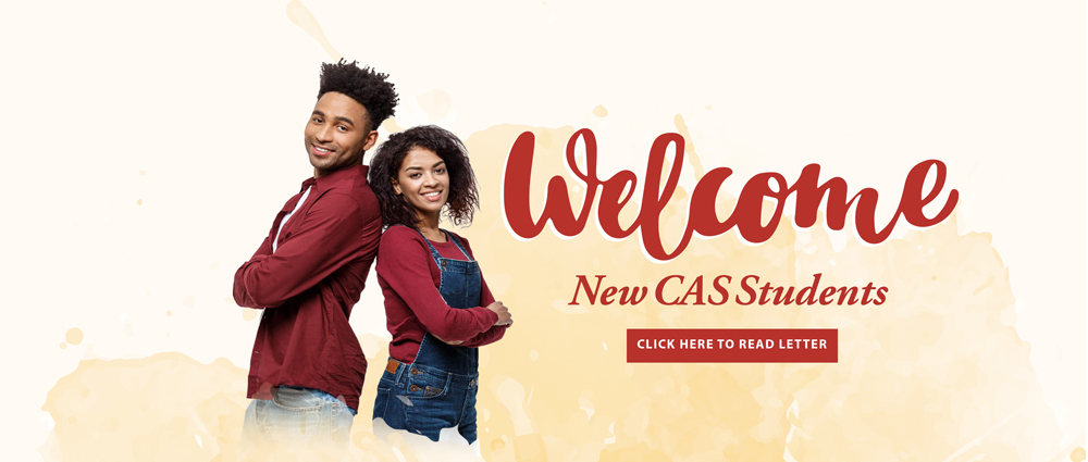 Welcome UDC CAS Students