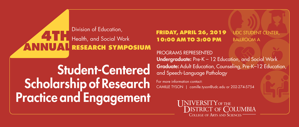 4th Annual Research Symposium - April 26, 2019 @ 10am - 3pm