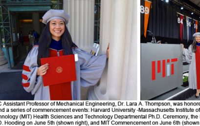 UDC SEAS Mechanical Engineering Faculty Honored: Dr. Lara Thompson attends Harvard-MIT Health Sciences and Technology Ph.D. Graduation Exercises