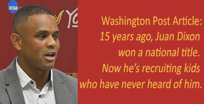 Article Washington Post about Juan Dixon and the Women's Basketball recruitment efforts