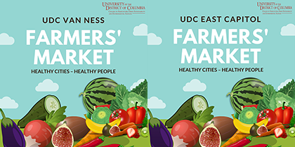 UDC Announces Opening of Farmer's Markets