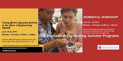 UDC Biomedical Engineering Summer Programs