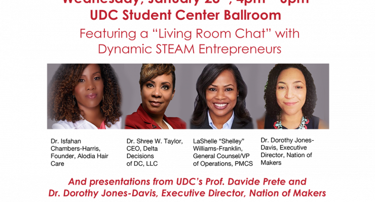 2019 UDC STEAM Symposium – Jan. 23, 2019 @ 4pm