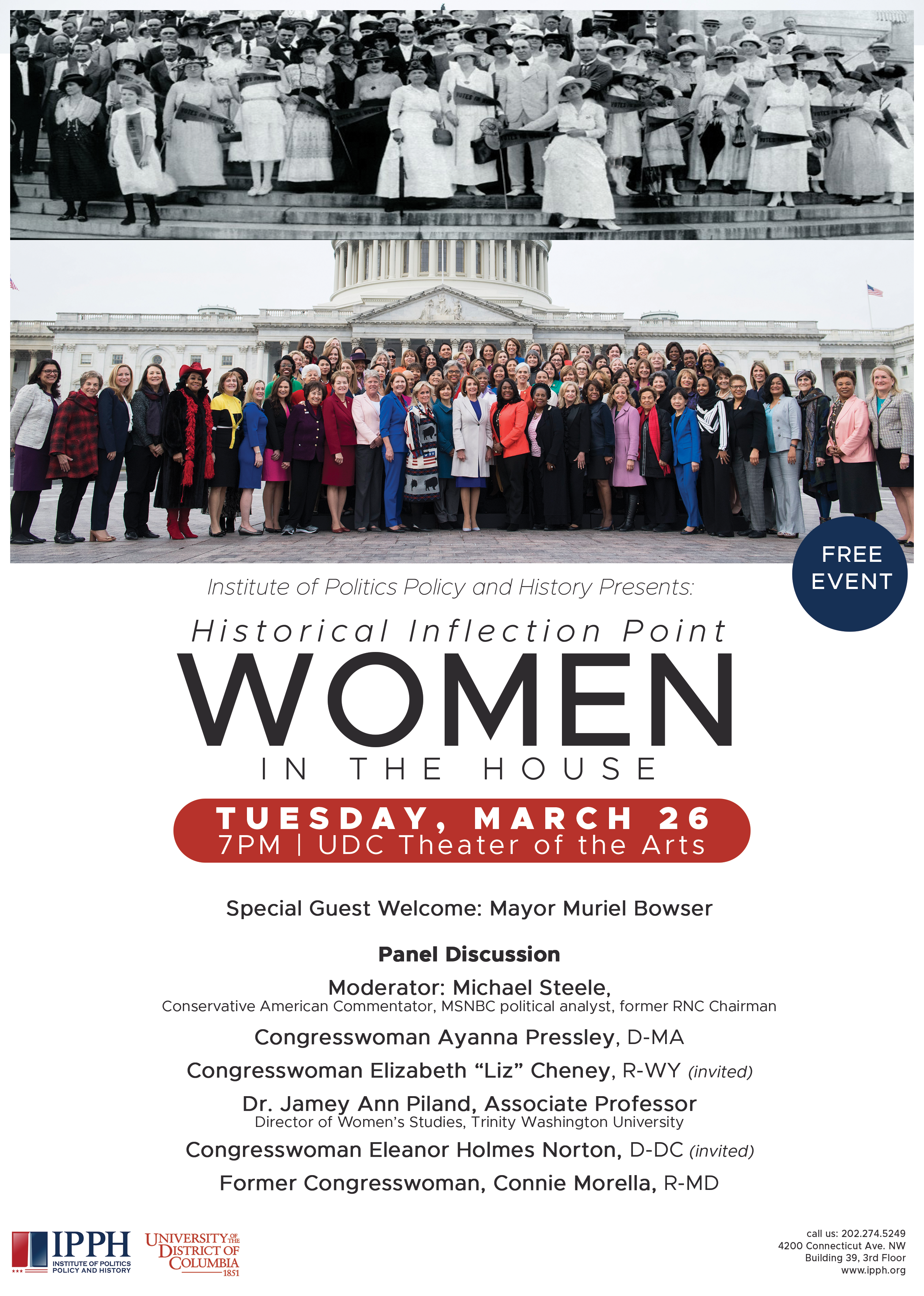 Historical Inflection Point: Women in the House - March 26, 2019 @ 7pm